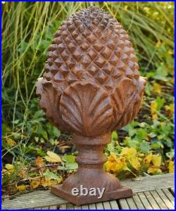 Large cast Iron Pine Cone Finial / Newel Cap for Gate Post / Garden / Ornament