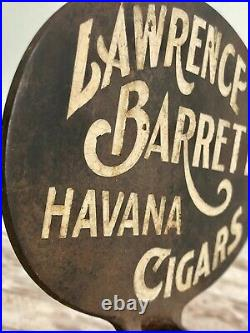 Lawrence Barrett Cigar Cutter Havana Cigar Antique Cast Iron Store Display
