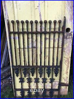 Lg Antique Heavy Cast Iron Garden Fence Gate Grate Antique Architecture Salvage