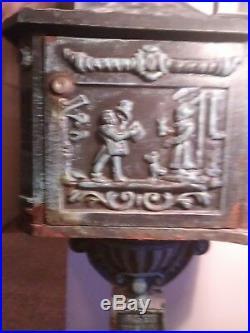 Mailbox cast iron Victorian 1880s
