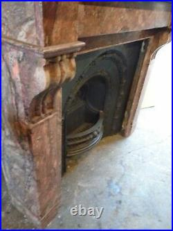 Marble Fire Surround for Cast Iron Fireplace