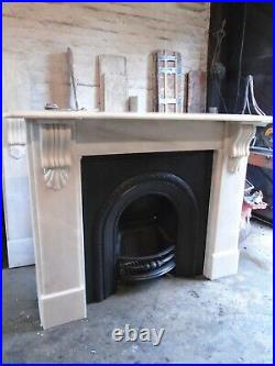 Marble Fire Surround for Cast Iron Fireplace (PAIR AVAILABLE)
