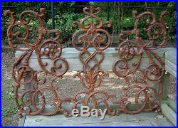 NEW Large Pontalba Panel Cast Iron Garden Railing Gate Decor Wrought Yard Art