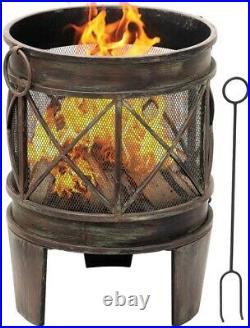 New Garden Heater Patio Chiminea BBQ Large Cast Iron Outdoor Burner Rustproof UK