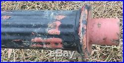 Old Vtg Antique Cast Iron Street Outdoor Light Lamp Post 12 Foot Set Lot Of 9