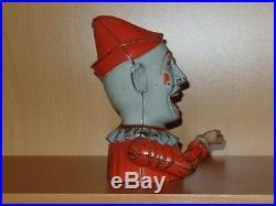 Original Antique Cast Iron HUMPTY DUMPTY Mechanical Bank. REDUCED