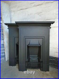 Original Cast Iron Fireplace matching pair