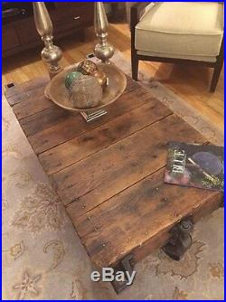 Original Early 1900's Lineberry Factory Cart with Cast Iron Wheels