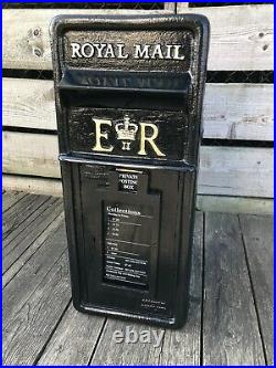 Original Royal Mail Black Post Office Box Genuine Cast Iron Post Box Machan