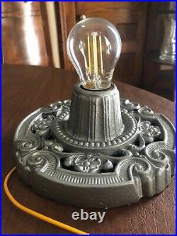 Pair Available, Antique Cast Iron, Art Deco, Art Nouveau Ceiling Porch Light