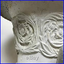 Pair of Antique Cast Iron Planters With Lion Head Handle Decoration