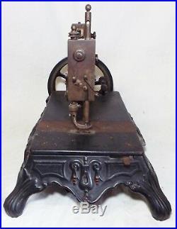 RARE Antique 1880s BREMER & BRUCKMANN Cast Iron BRUNONIA SEWING MACHINE -WORKS