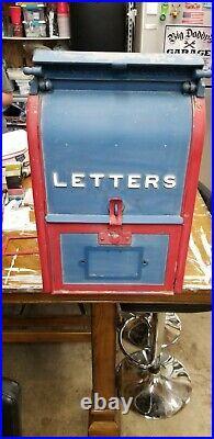RARE, Antique Cast Iron U. S. Post Office Public Mailbox, 1927 Vintage USPS