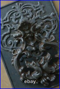 RARE LARGE Antique Victorian Cast Iron Door Knocker Original Patina Hardware