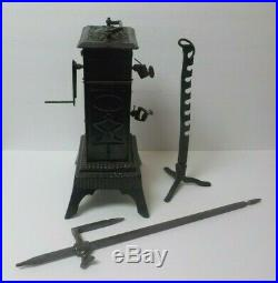 Rare 19th C. French Cast Iron Clockwork Spit Jack / Rotiesserie