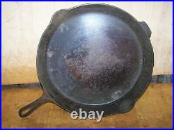 Rare Antique #14 GRISWOLD Cast Iron Skillet Heat Ring 718A With474 Lid Erie PA