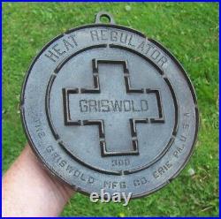 Rare Antique Griswold Cast Iron No. 300 Heat Regulator / Trivet