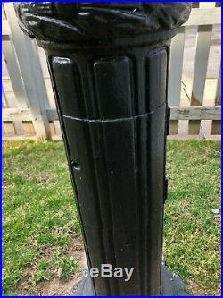 Rare Set Antique 1950s Cast Iron NYC Street light poles Art Deco 100% Original