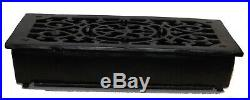 Rectangular Cast Iron Floor Register Heat Grate Antique Replica Louvered Heating