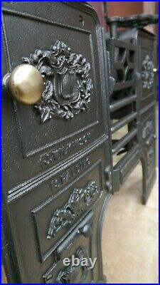 Restored Antique Victorian Kitchen Cooking Range Fireplace stove cast Iron