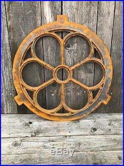 Round Window frame in a antique style -circular cast iron with rust 60cm small