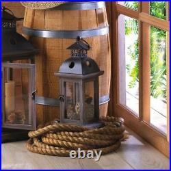 Rustic Wood Candle Lantern Candleholder 8 pc Set Wedding Centerpieces