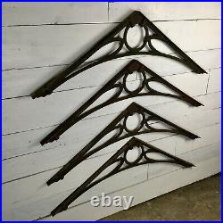 Set of 4 Large Victorian Cast Iron Greenhouse Roof Brackets