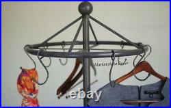Spinning Clothes Rack Cast Iron Base Vintage Style Garment Stand Coat Hat Rack