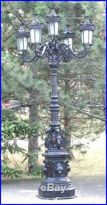 Streetlight Garden lamp 5 Lanterns 311 CM cast iron Lighting Ornate LAMP