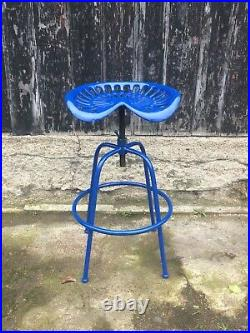 Tractor Bar Stool Adjustable Seat Vintage Industrial Style Cast Iron 5 Colours
