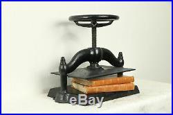 Victorian Antique 1890 Cast Iron Bookbinder Book Press #32137