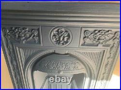 Victorian decorative cast iron fireplace