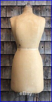 Vintage 1948 WOLF NY Model Dress FORM Size 12 Women Mannequin Cast Iron Base