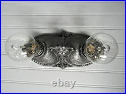 Vintage Antique Art Deco Flush Mount Ceiling Light Cast Iron Farmhouse Light
