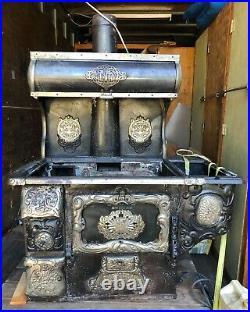 Vintage Antique CastIron Stove Range Water Heater (Charter Oak Stoves and Range)