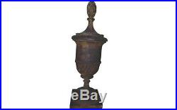 Vintage Cast Iron Antique Early 19th Century Architectural Finials S/4 Very Good