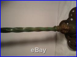 Vintage Cast Iron Art Deco Metal Scroll Work Flowers Leafs Fish Bowl Stand