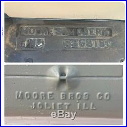 Vintage Cast Iron Enamel Moore's Brothers Modern No 83681B Coal Burning Stove
