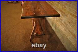 Vintage Cast Iron Legs Industrial Wood Table Kitchen Dining Desk Stand Factory