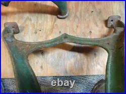 Vintage Cast Iron Table Legs base Lathe industrial machine Desk island Antique