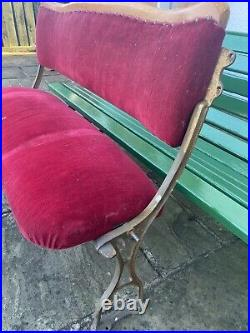 Vintage Double Cinema Seat / Chair Bench Courting Couple Back Row Seat