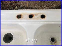 Vintage Kohler Porcelain/Cast Iron Double Kitchen Sink Farmhouse 1963 Laundry