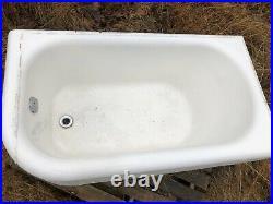 Vintage Right Corner Cast Iron Tub