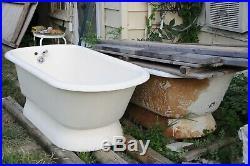 Vintage Tub Cast Iron Pedestal Tub Antique Bathtub similar to Clawfoot Tub BATH