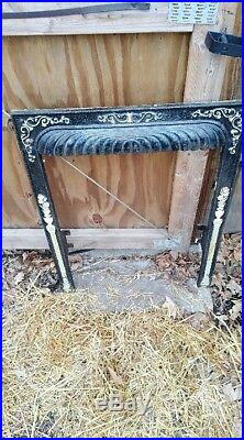 Vintage Victorian Art Deco Steam Punk Cast Iron Fireplace Mantle