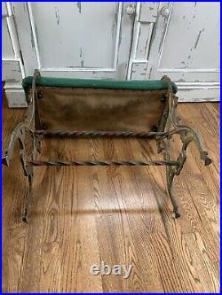 Vintage Victorian Cast Iron Vanity Bench