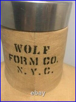 Vintage Wolf Cage Dress Form Size 7/8 Model 1987 Collapsible Cast Iron Base