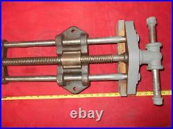 Vintage Woodworking Under Work Bench Vise Cast Iron Industrial Antique Updated