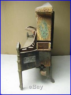 Vintage antique cast iron & ceramic fireplace insert gas heater Ohio Radiant