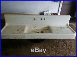 Vintage/antique farmhouse drainboard sink